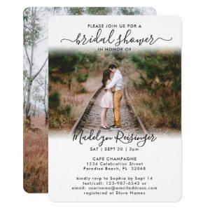 2 Photo Bridal Shower Chic Modern Elegant Script Invitation starting at 2.65