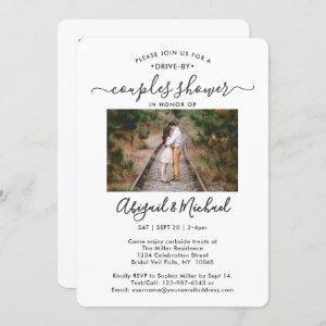 2 Photo Drive-By Modern Couples Bridal Shower Invitation starting at 2.65