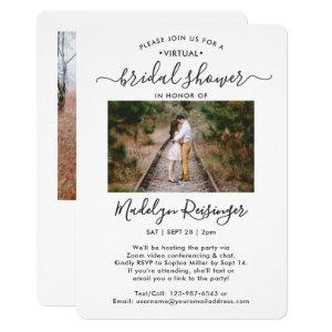 2 Photo Script Virtual Long Distance Bridal Shower Invitation starting at 2.65