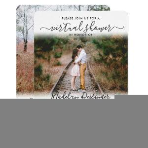2 Photo Script Virtual Long Distance Bridal Shower Invitation starting at 2.35