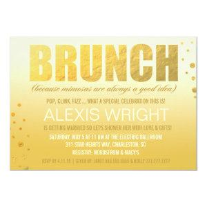 311 Brunch Because Mimosa Orange Ombre Invitation starting at 2.61