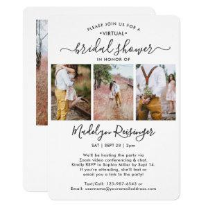 4 Photo Script Virtual Long Distance Bridal Shower Invitation starting at 2.65