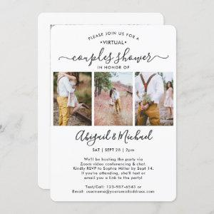 4 Photo Virtual Couples Bridal Shower by Mail Invitation starting at 2.65