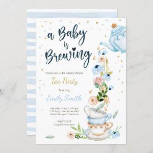 A Baby is Brewing Invitation Tea Party Baby Shower starting at 2.55
