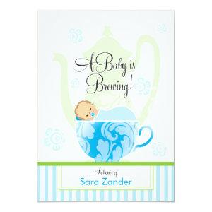 A Baby Shower Tea Party  |  Boy Invitation starting at 2.56