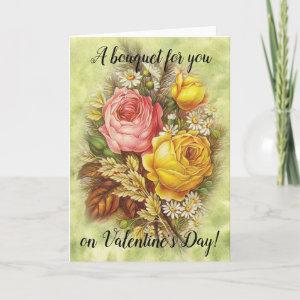 A Bouquet for You on Valentine's Day Victorian Holiday Card starting at 3.65