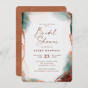Abstract Ethereal Terra Cotta Bridal Shower Invitation starting at 2.40