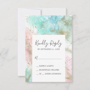 Abstract Summer Watercolor Simple RSVP Card starting at 2.01