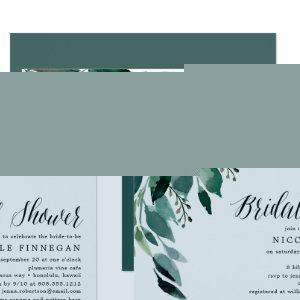 Abundant Foliage | Bridal Shower Invitation starting at 2.51