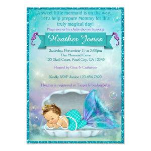 Adorable Mermaid Baby Shower Invitations #130 starting at 2.50