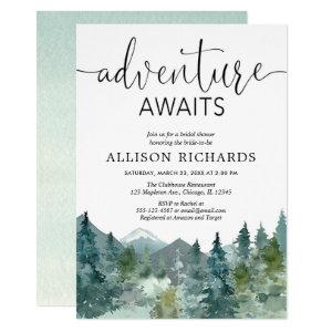 Adventure awaits rustic woodland bridal shower invitation starting at 2.55