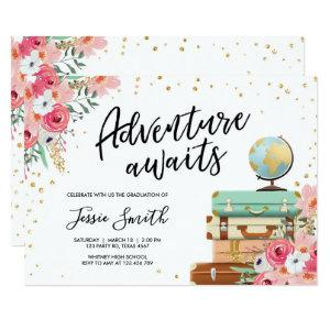 Adventure Awaits Travel Graduation Party School Invitation starting at 2.36