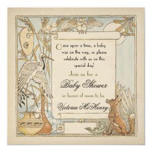 Aesop's Storybook Baby Shower Invitations starting at 3.09