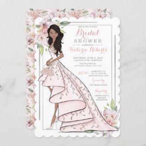 African American Bride in Gown Bridal Shower Invitation starting at 2.65