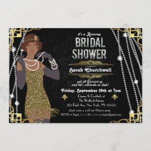 African American Flapper Bridal Shower Invitation starting at 2.61