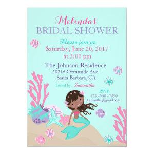 African Mermaid Under the Sea Bridal Shower Invitation starting at 2.82