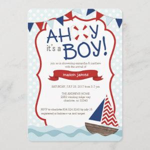 Ahoy it's a BOY! Baby Shower Invitation starting at 2.71