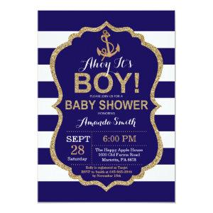 Ahoy it's a Boy! Nautical Baby Shower Invitation starting at 2.35