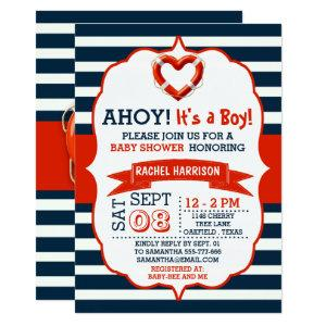 Ahoy It's A Boy! Nautical Buoy Baby Shower Invites starting at 2.51