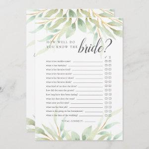 Airy Botanical Double-Sided Bridal Shower Game Invitation starting at 2.51