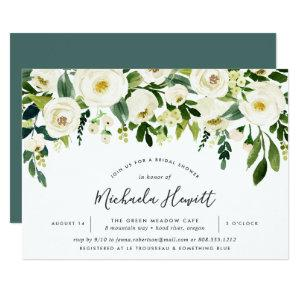 Alabaster Floral Bridal Shower Invitation starting at 2.26