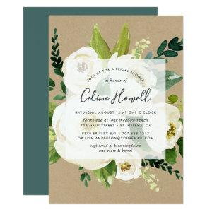Alabaster Floral Kraft Bridal Shower Invitation starting at 2.26