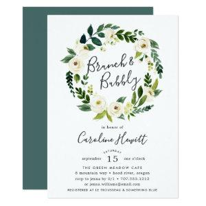 Alabaster Wreath Brunch & Bubbly Shower Invitation starting at 2.26