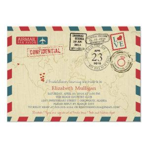 Alaska World Traveler Airmail | Bridal Shower Invitation starting at 2.55