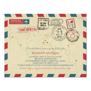 Alaska World Traveler Airmail | Bridal Shower Invitation starting at 2.25