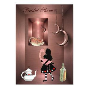 Alice, Flamingo & Cheshire Cat Bridal Shower Invitation starting at 2.66