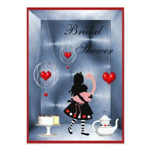 Alice & Flamingo Hearts Bridal Shower Tea Party Invitation starting at 2.66