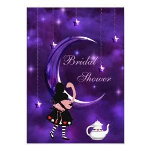Alice & Flamingo Purple Moon Bridal Shower Invitation starting at 2.66