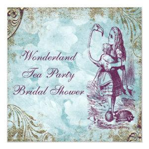 Alice & Flamingo Wonderland Bridal Shower Invitation starting at 2.51