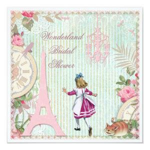 Alice in Paris Chic Wonderland Bridal Shower Invitation starting at 2.51