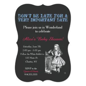 Alice in Wonderland baby shower custom vintage Invitation starting at 2.91