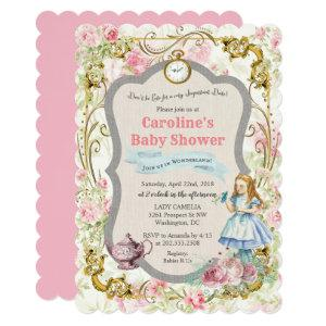Alice in Wonderland Baby Shower Invitation starting at 2.86