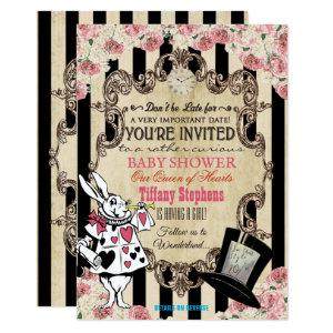 Alice in Wonderland Baby Shower Invitation starting at 2.61