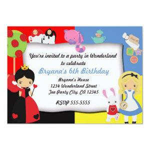 Alice in Wonderland Birthday Party Invitation starting at 2.21