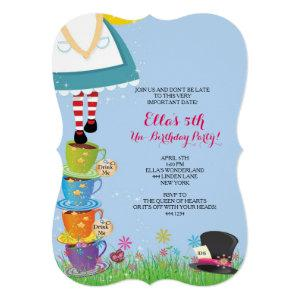 Alice in Wonderland Birthday Party Invitations starting at 2.70