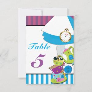 Alice in Wonderland Birthday Party Table Number starting at 2.16