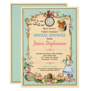 Alice in Wonderland bridal shower invitaion Invitation starting at 2.45