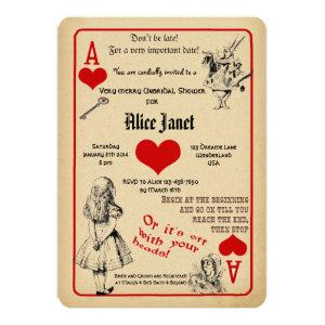 Alice in Wonderland Bridal Shower Invitation starting at 2.86