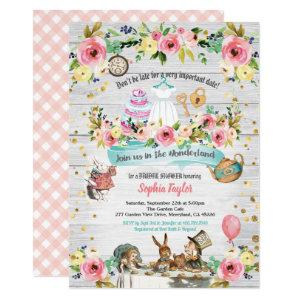 Alice in Wonderland bridal shower invitation starting at 2.45