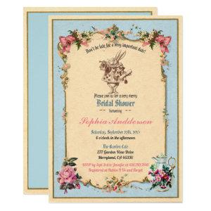 Alice in Wonderland bridal shower invitation blue starting at 2.45