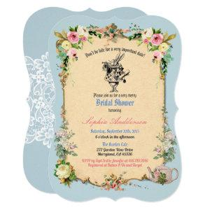 Alice in Wonderland bridal shower invitation blue starting at 2.70