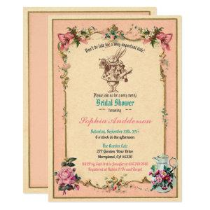 Alice in Wonderland bridal shower invitation pink starting at 2.45