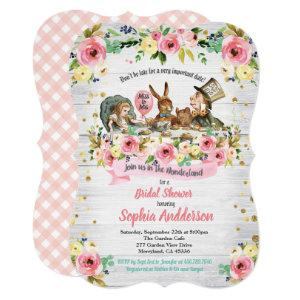 Alice in Wonderland bridal shower invitation pink starting at 2.75