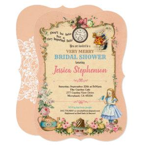 Alice in Wonderland bridal shower invitation pink starting at 2.70