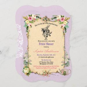 Alice in Wonderland bridal shower invitation tea starting at 2.70