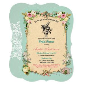Alice in Wonderland bridal shower invitation teal starting at 2.70